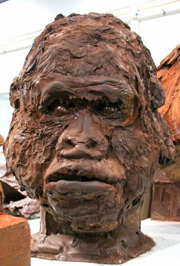 אמנות מתוקה. אחד מפסליו של רוז'ה (צילום: שרון היינריך)