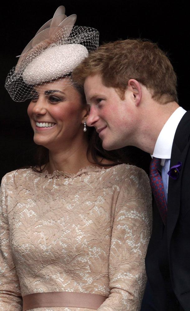 תהיי נחמדה אליה, בחייך. הנסיך הארי ומידלטון (צילום: gettyimages)