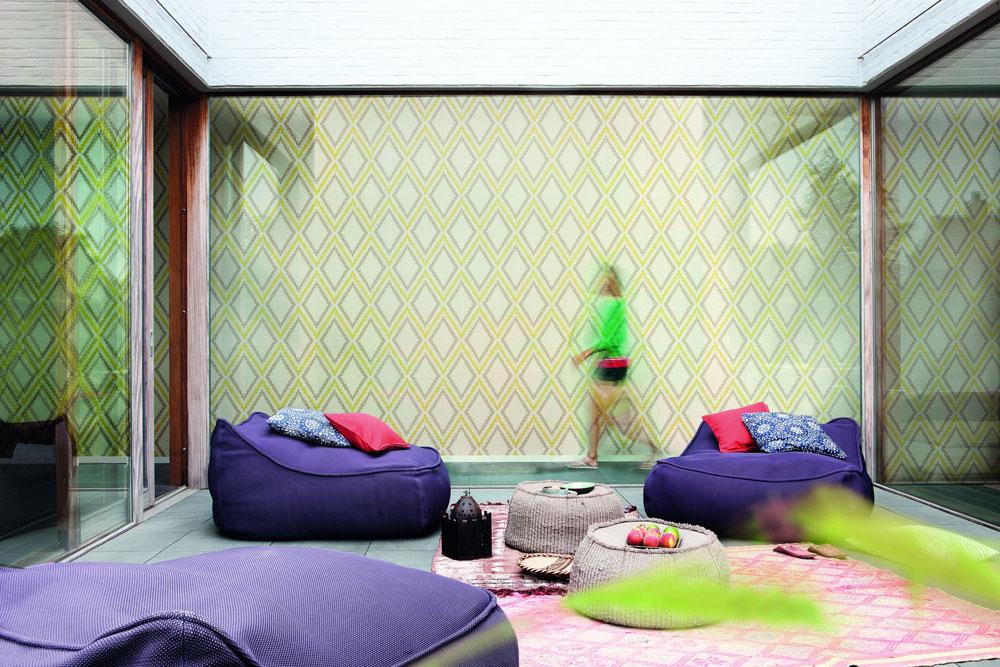 קולקציית הטפטים של חברת ''גראנד דקו'' (Grand Deco) נותנת מענה לטרנדים בולטים בעיצוב הבית, עם חמש סדרות שבהן, למשל, טפטים דמויי עור וכאלה שעוצבו בטקסטורה של בדים (באדיבות רשת כרמל)