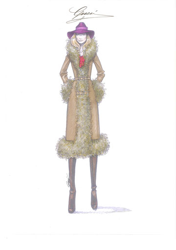 סקיצה של פרידה ג'יאניני לתלבושות בסרט RUSH