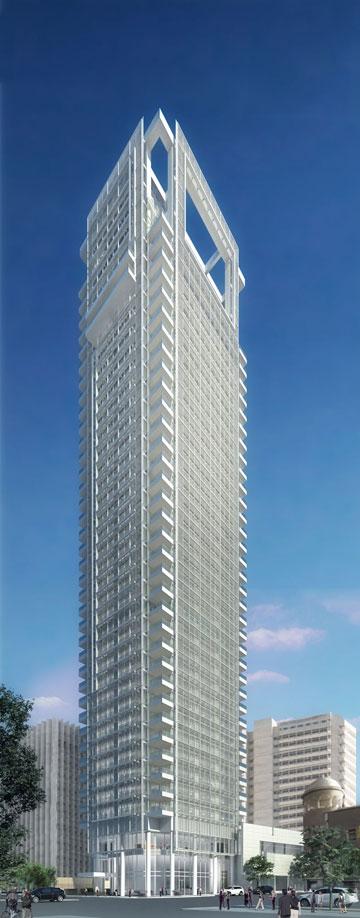 מודול של 3.60 מטרים חוזר לאורכו ולרוחבו של המגדל (הדמיה: View Point)