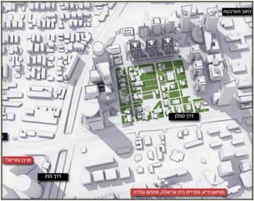 מפת המתחם המתוכנן (הדמיה: VIEW POINT)
