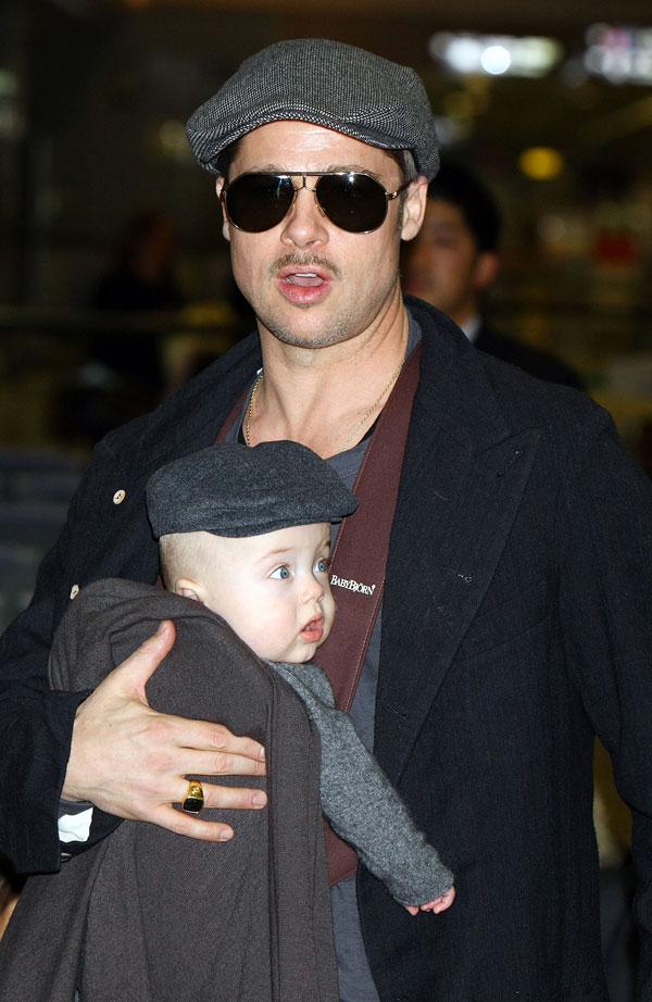 מחפשים ילדה בת שנתיים-שלוש. פיט עם בנו נוקס, 2009 (צילום: gettyimages)