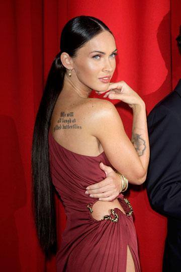 השחקנית מייגן פוקס עם תוספות שיער (צילום: gettyimages)