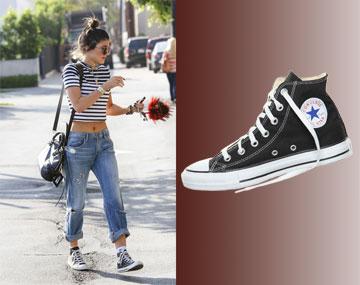 בניגוד לאחיותיה, קיילי ג'נר לא זקוקה ליותר מנעלי אולסטאר כדי להיראות מגניבה  (249 שקל) (צילום: splashnews, אבי ולדמן)