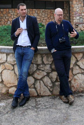 דן חסון (משמאל, וימינו יובל יסקי) שיתף פעולה בפרויקט של הגיס של יסקי, צבי אפרת (צילום: ערן יופי כהן)