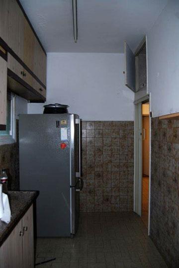 המטבח הישן. היום יש כאן חדר רחצה