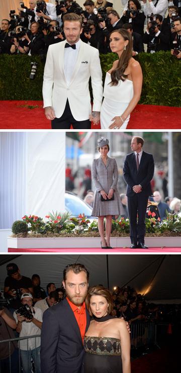 ההורים הגאים: ויקטוריה ודיוויד בקהאם, הנסיך וויליאם וקייט מידלטון, סיידי פרוסט וג'וד לאו (צילום: gettyimages)
