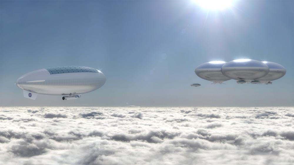 הפרויקט הקונספטואלי שהציגה נאס''א: רחפות חלל, שיטוסו מעל העננים של כוכב הלכת נוגה ושבהן ישתכנו אסטרונאטים למשך כחודש. Images © NASA