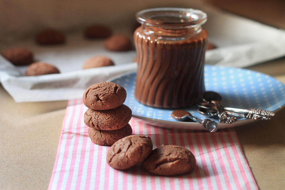 עוגיות נוטלה מ-3 מרכיבים (צילום: אורלי חרמש)