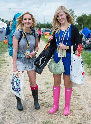 המגפיים הקבועים של אורחי פסטיבל המוזיקה גלסטנברי (צילום: gettyimages)