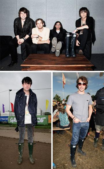 הנעליים החביבות על אנשי תעשיית המוזיקה. קינגס אוף לאון, ג'יימס בלאנט וניק גרימשו (צילום: gettyimages)