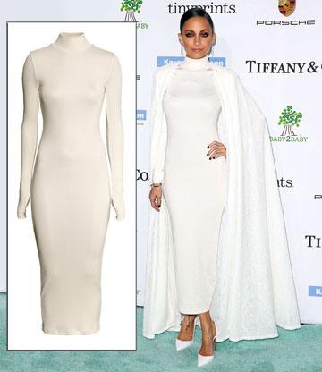 ניקול ריצ'י נראית מיליון דולר בשמלת H&M שעולה קצת פחות (199 שקל) (צילום: splashnews/asap creative)