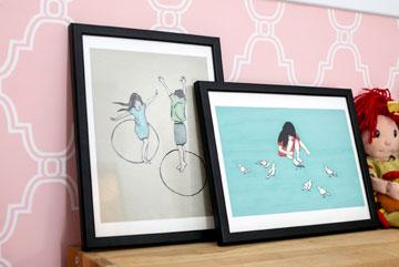 הדפסים בחדרי הילדות (צילום: שירן כרמל)