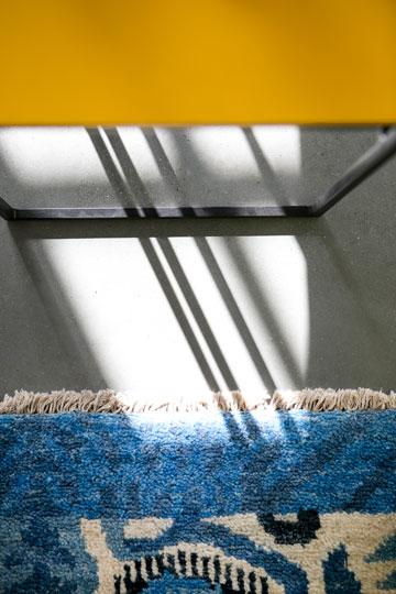 כחול וצהוב בסלון (צילום: שירן כרמל)