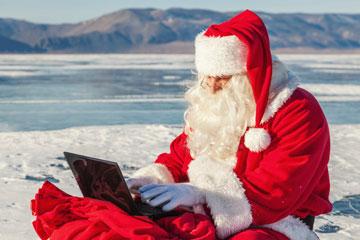 סנטה קלאוס כותב מכתב. תמורת 9.95 דולר הוא יכתוב גם לכם (צילום: thinkstock)