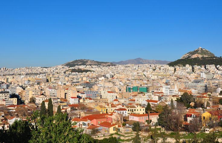 כן, זה אמיתי. תצפית על העיר אתונה (צילום: אופיר עדני)