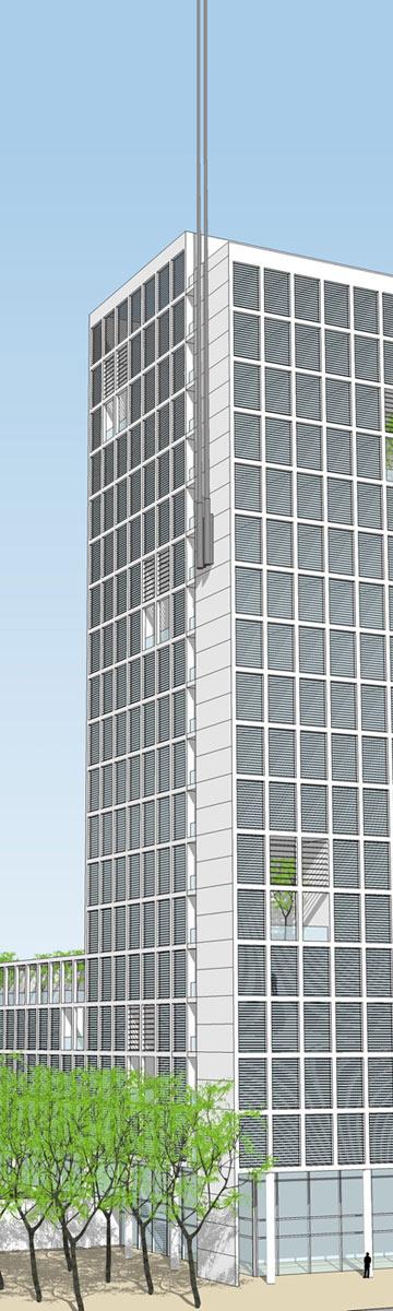 ההצעה הזוכה: מגדל בן 20 קומות (הדמיה: קולקר קולקר אפשטיין אדריכלים)
