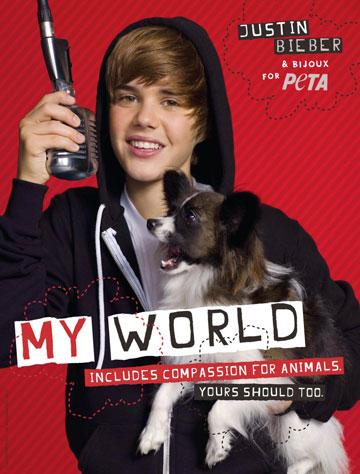 ג'סטין ביבר בקמפיין של PETA