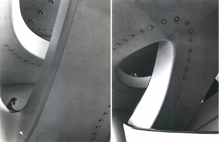 עוד מתוך עיצוב הפנים של ''הבימה''. לא נשאר מזה זכר בעיצובו הנוכחי של רם כרמי (באדיבות דוד דה מאיו)