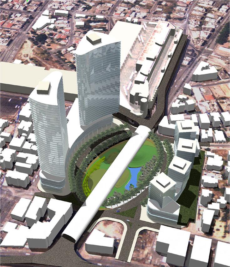 בפאתי השכונה מתוכנן פרויקט מגורים ענקי, שישפיע בעקיפין על נוה שאנן ופלורנטין: שוק עלייה (אדריכלות: מייזליץ כסיף אדריכלים, אדריכלות נוף: ת.מ.א)