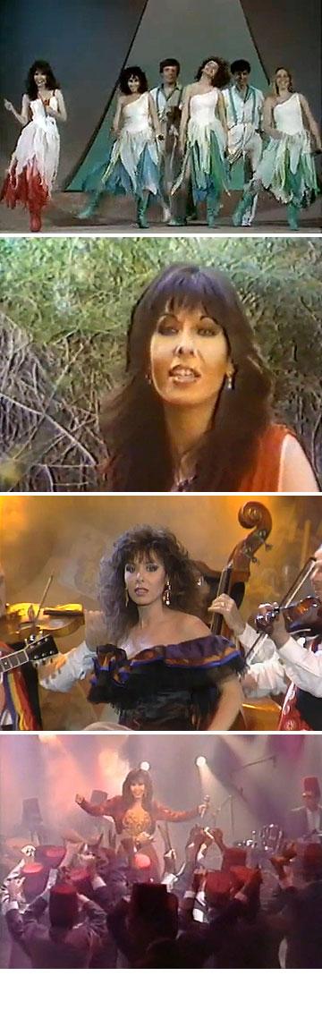 בהופעות שונות, משנת 1985 ועד שנת 1988. ''היא ידעה מה מחמיא לה ומה ייראה טוב על הבמה'', אומרת מעצבת האופנה דורין פרנקפורט