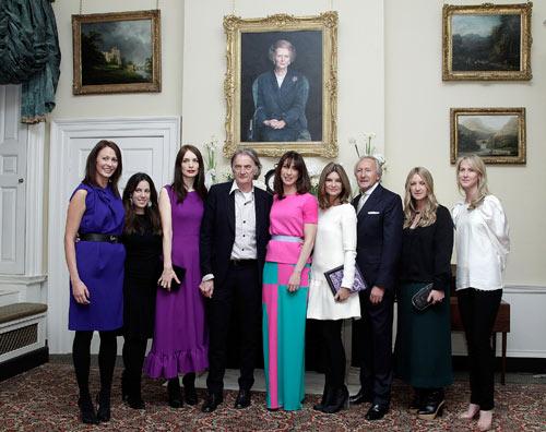 ראשי תעשיית האופנה הבריטית מתכנסים ברחוב דאונינג 10 (צילום: gettyimages)