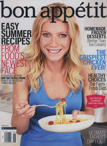 """מתעסקת באוכל נון-סטופ. פאלטרו על שער המגזין """"בון אפטיט"""""""