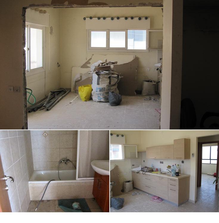 וכך היא נראתה ''לפני'': דירה תל אביב ישנה ומחולקת (צילום: ליאת עברון)