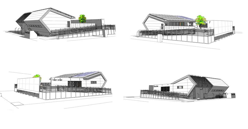 """החלונות והתאים על הגג ינצלו את אנרגיית השמש לקירור או לחימום. המבנה יצרוך 10.5 קוט""""ש על מיזוג, 11 קוט""""ש למכשירי חשמל נוספים ו-2 קוט""""ש על תאורה (באדיבות נבחרת ישראל לדקאתלון סין 2013)"""