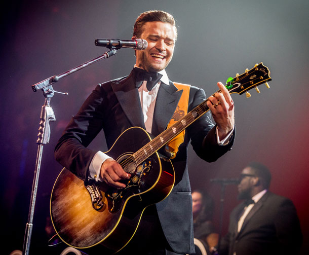"""""""לא הייתי מזלזל באף אחד"""". טימברלייק על הבמה בניו אורלינס (צילום: gettyimages)"""