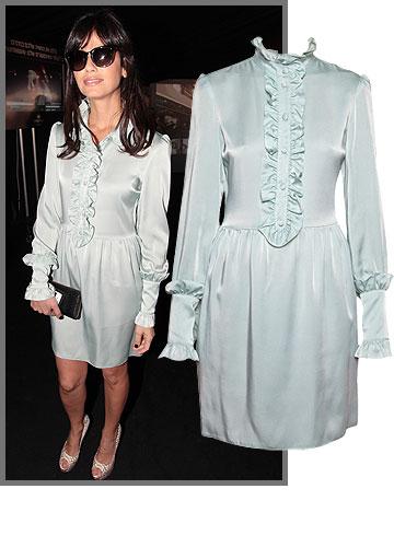 סנדי בר בלוק רך וענוג עם שמלת משי מבית המעצבת לי גרנבאו (3,500 שקל) (צילום: רפי דלויה, דנה קרן)