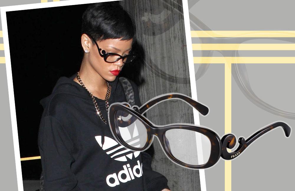 ריהאנה נותנת בראש כהרגלה במקפי פראדה מליין הבארוק (1,100 שקל) (צילום: splashnews/asap creative)