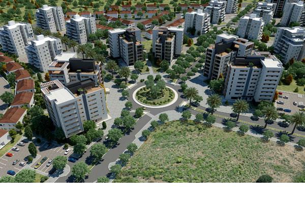 הדמיה של פרויקט ''חלומות פארק חדרה'' (באדיבות שיכון ובינוי נדלן )