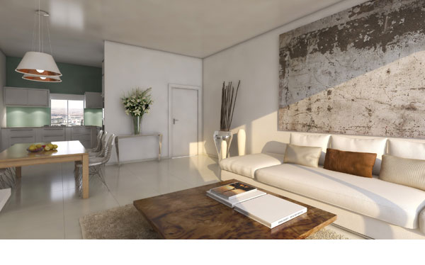 הדמיה של דירה ב''חלומות ברנע הירוקה'' באשקלון (באדיבות שיכון ובינוי נדלן )