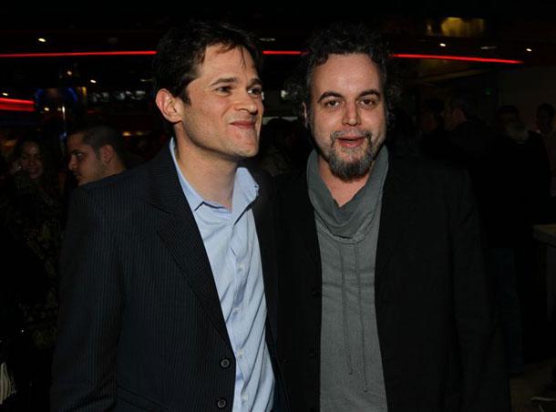 הבמאי יריב הורוביץ (משמאל) עם דניאל סלומון (צילום: רפי דלויה)