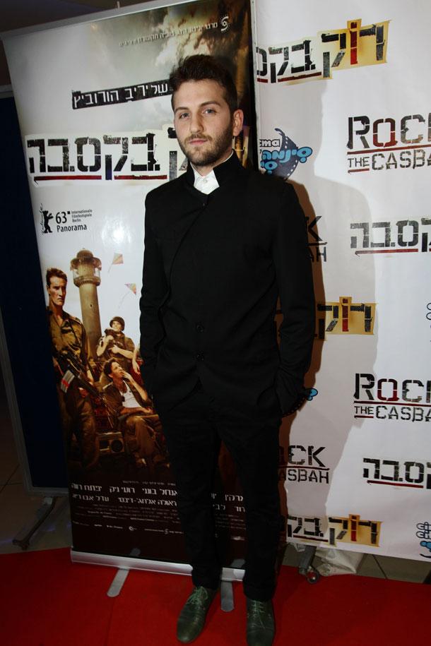 רועי ניק, ממשתתפי הסרט. בן הדוד, יהודה לוי, לא היה שם (צילום: רפי דלויה)