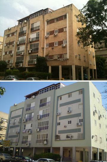 לפני ואחרי: הקישון 18 (צילום: ריגלר אדריכלים)