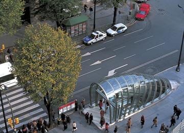 תחנת מויואה במבט מלמעלה (צילום: Nigel Young_Foster and Partners)