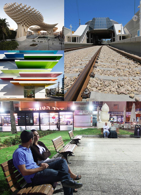 תחנת הרכבת בקו ת''א-ראשל''צ, מטרופול פראסול בספרד, בנק בטוקיו וכיכר העצמאות בנתניה. אפשר להבין מדוע אנשים שואפים להיות אדריכלים
