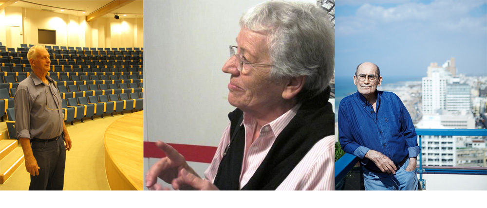 והנה 3 אדריכלים ישראלים ותיקים (מימין: אברהם יסקי, עדה כרמי-מלמד ורפי לרמן). בישראל נוהג מצב קלוקל, שבו אין הפרדה ברורה בין אדריכלים, הנדסאים ומעצבי פנים. צילומים (מימין): ניקיטה פבלוב, מיכאל יעקבסון, נעמה ריבה)