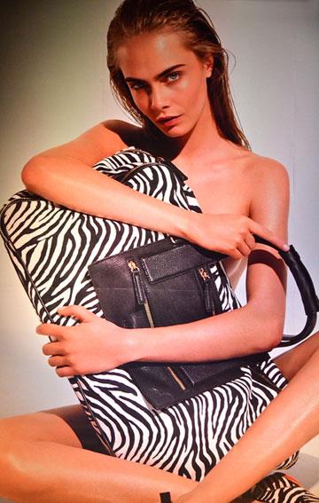 הכוכבת החדשה של עולם האופנה. קארה דלווין בקמפיין למותג הוגאן בשבוע האופנה האחרון במילאנו