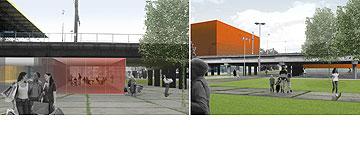 תחנת Roeselare. ''מאפשר לחבר מקומות מנותקים'' (באדיבות uapS  Anne Mie Depuydt)