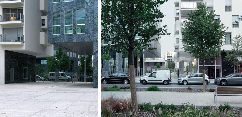 פרויקט Marcolot ברובע boulogne-billancourt בפריז, שנחנך ב-2010, משתרע על דונם ומגלם את עקרונות התכנון של המשרד - שטח פתוח ועירוב שימושים (צילום: Géraldine Millo)