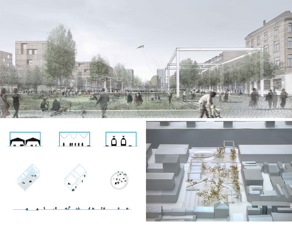 משרדה של דפאוט פועל בעיקר בבלגיה ובצרפת. כאן אפשר לראות תכנון של כיכר Cadix באנטוורפן. היא מאמינה בשיתוף הציבור (באדיבות uapS  Anne Mie Depuydt)