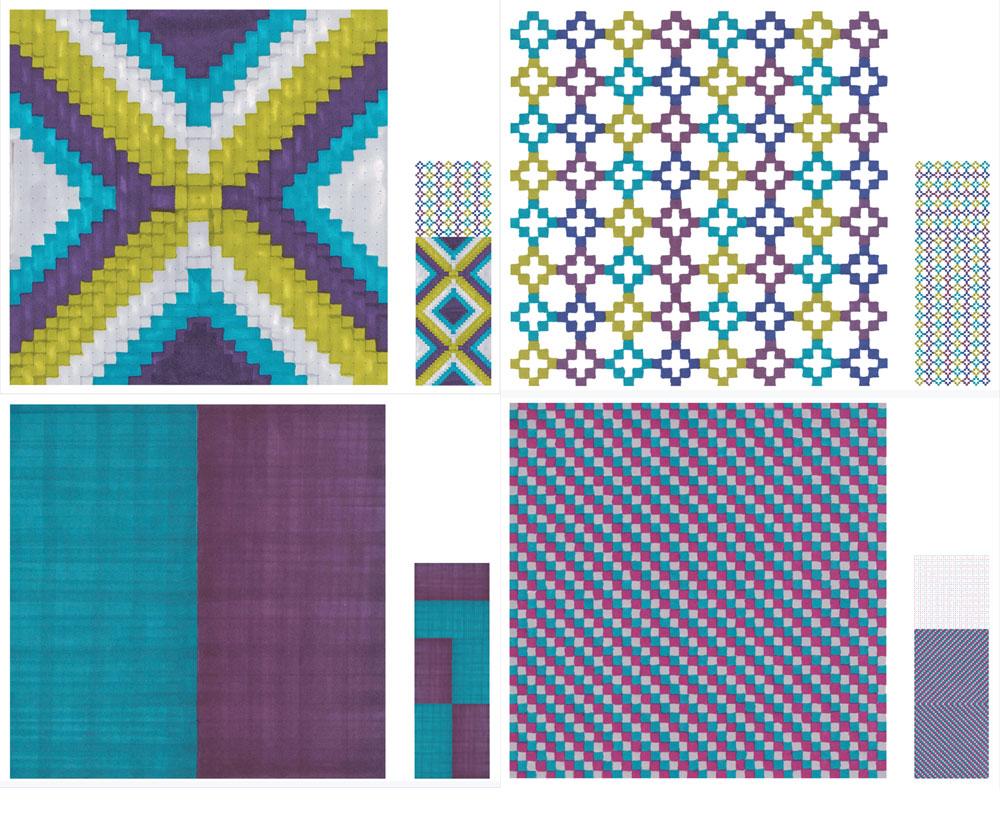 לפלטת הצבעים שיצרה כספי מיומנות ורגישות שמגיעות מעולם הטקסטיל, והדוגמה המופשטת - שעשויה אלמנטים בסיסיים שאפשר לשכפל ולשחק איתם - נראית טבעית למוצרי הרשת (צילום: תמי דהן)