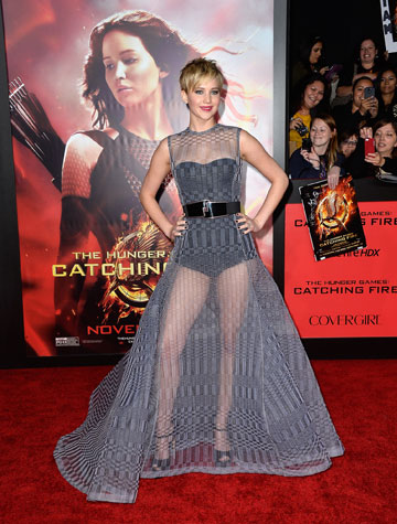 ג'ניפר לורנס. היתה אוהבת את השמלה יותר על מישהי אחרת (צילום: gettyimages)