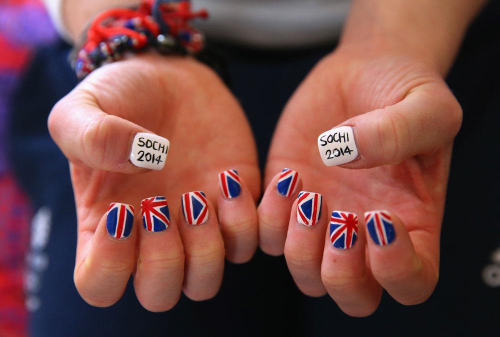 המניקור של רבקה ווילסון, גולשת מזחלות בריטית (צילום: gettyimages)