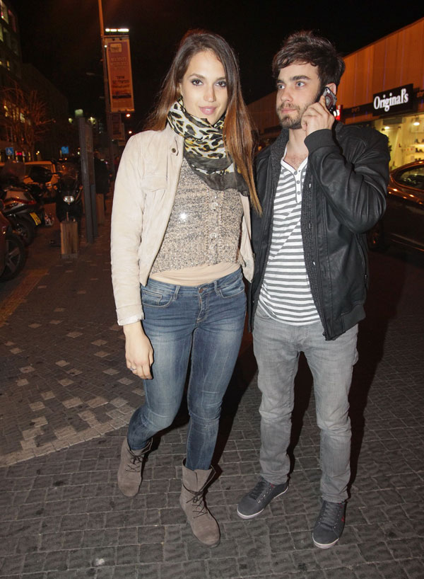 ארבעה חודשים יחד. גיא מנטש ומארינה מקסימיליאן (צילום: שוקה כהן)