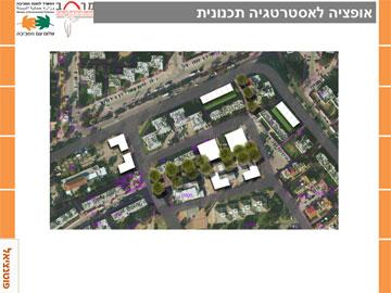 אפשר להוסיף מאות יחידות דיור לעיר הוותיקה. הצעת ''מרחב'' והמשרד להגנת הסביבה (באדיבות מרחב התנועה לעירוניות בישראל והמשרד להגנת הסביבה )